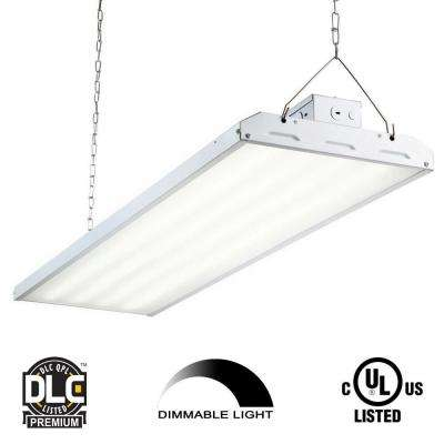 223-Watt 4 ft. White Integrated LED Backlit High Bay Hanging Light with 29,213-Lumens