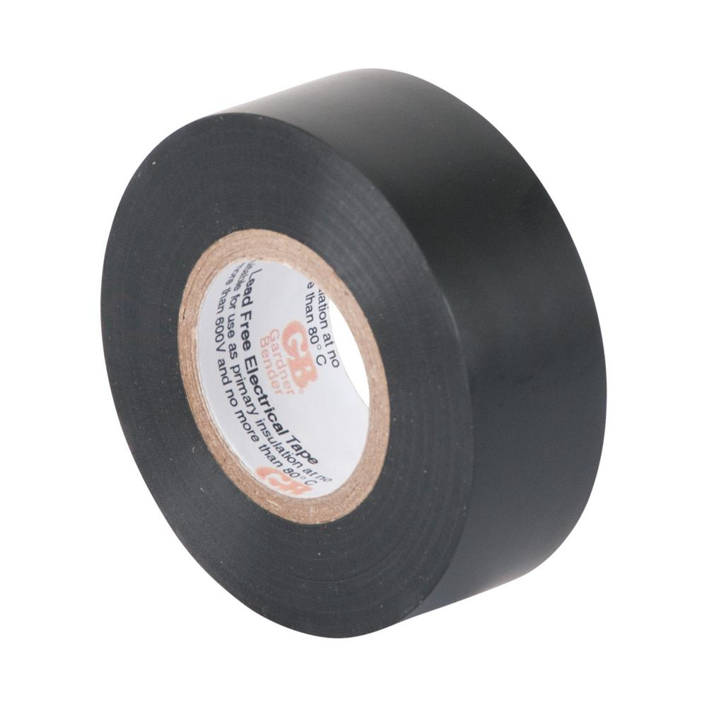 3/4 in. x 30 ft. Black Electrical Tape 10-Pack Sleeve (Case