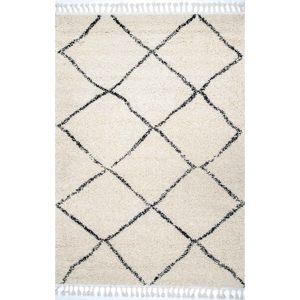 Nuloom jessie moroccan lattice tassel off white 7 ft 10 in x 10 ft area rug gcdi08a 710010 the home depot