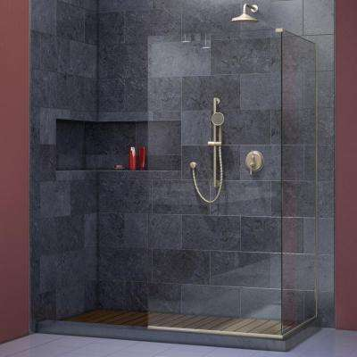 Linea 34 in. x 72 in. and 34 in. x 72 in. Semi-Framed Shower Door in Brushed Nickel