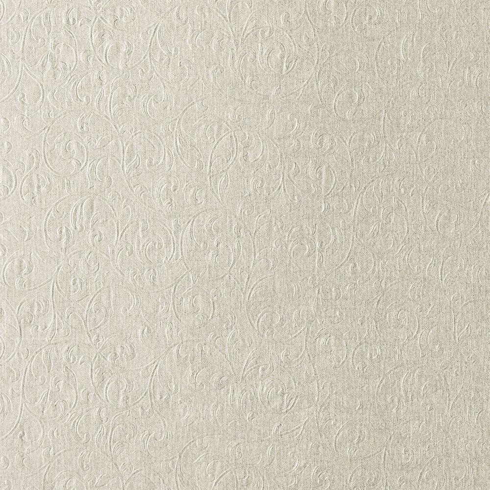 null Carlotta Taupe Textured Scroll Wallpaper