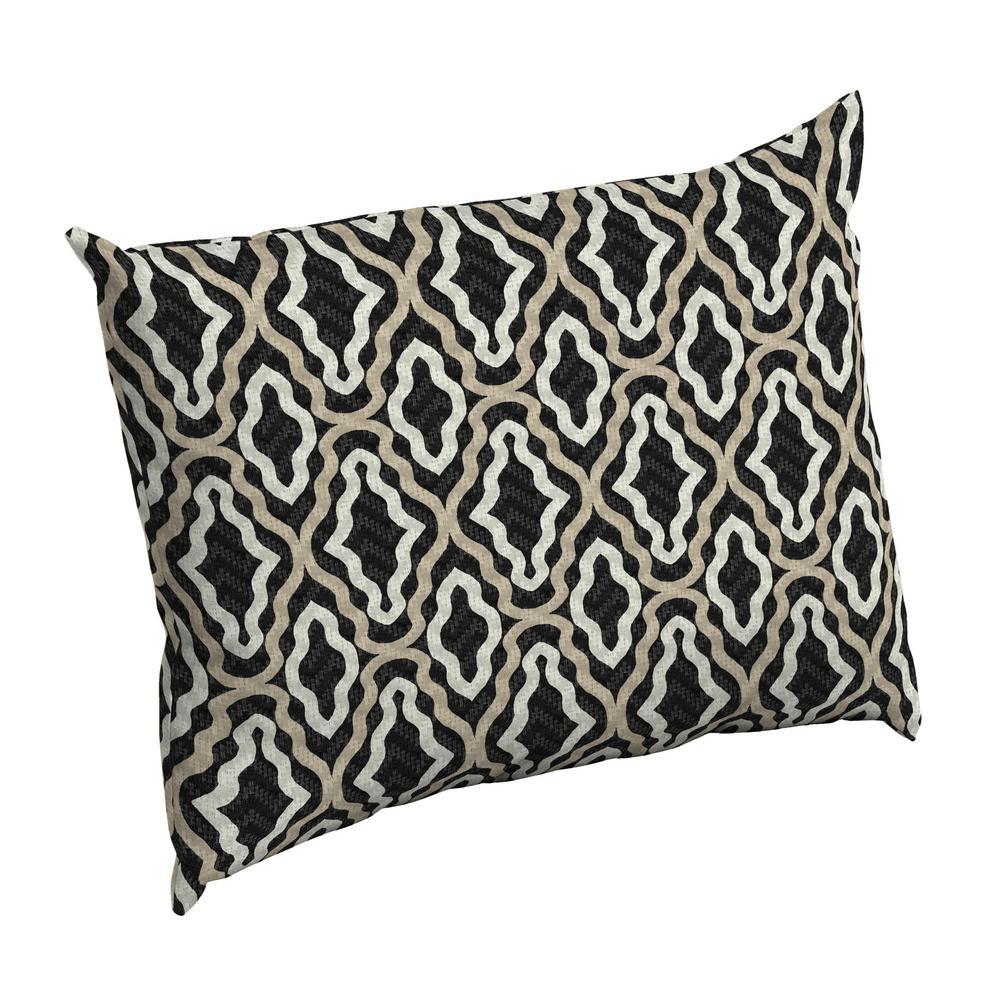 Amalfi Trellis Rectangle Outdoor Throw Pillow
