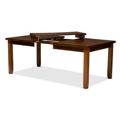 Megan Walnut Brown Extendable Dining Table