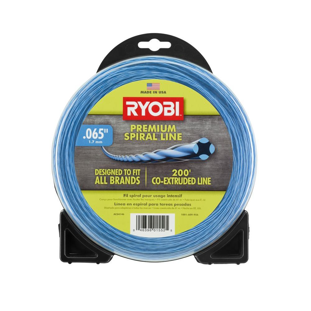 RYOBI 0.065 in. x 200 ft. Heavy-Duty Spiral Corded and Cordless Trimmer Line