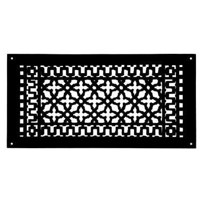 Scroll 20 in. x 9 in. Aluminum Grille with Mounting Holes, Black