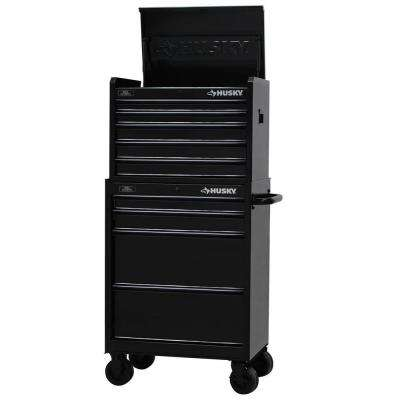 27 in. W 9-Drawer Tool Chest and Cabinet Set, Black