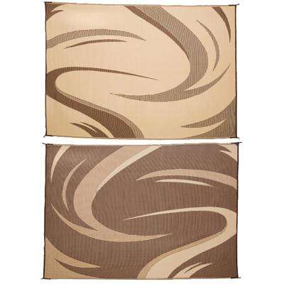 8 ft. x 18 ft. Swish Brown/Tan Reversible Mat