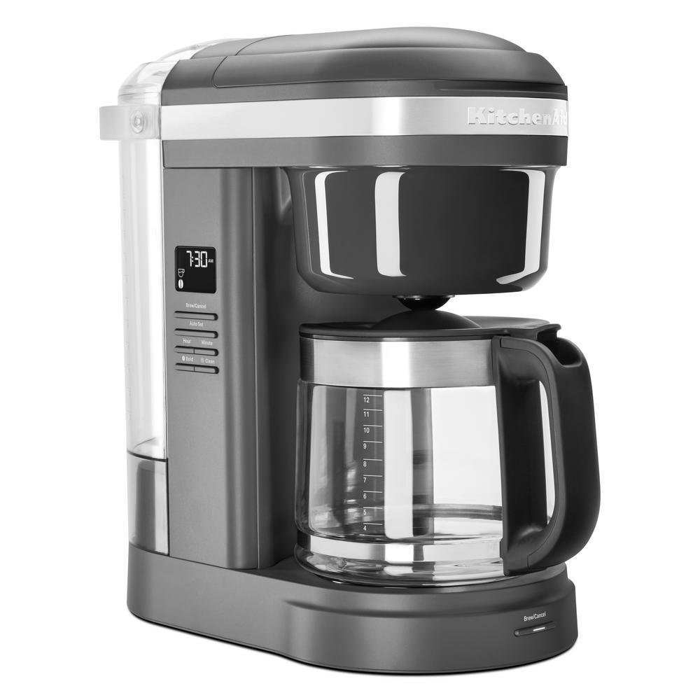 KitchenAid 12-Cup Coffee Maker with Spiral Showerhead - Matte Gray - KCM1208DG