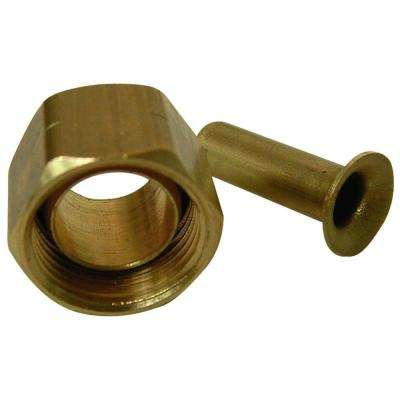 Brass Compression Nut and Insert 1/4 in.