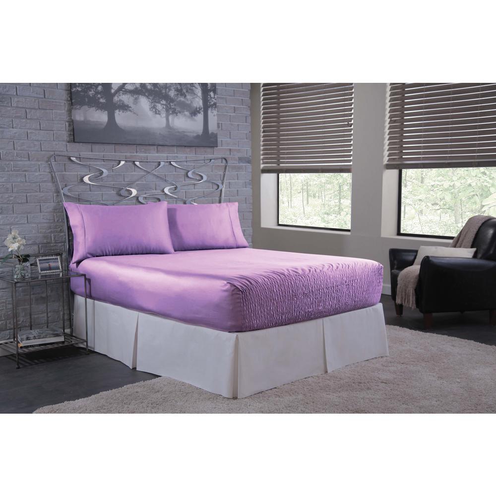Satin Lilac Queen Sheet Set