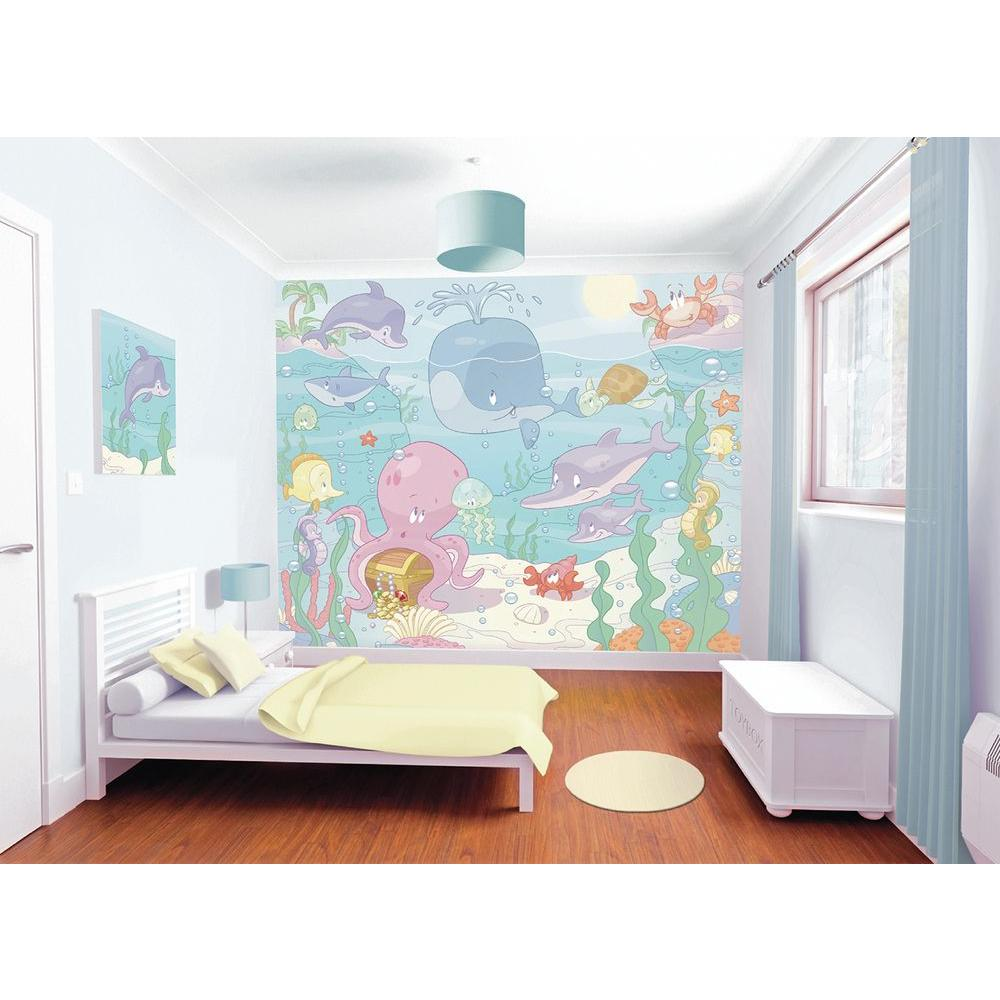 120 in. H x 96 in. W Baby Under the Sea