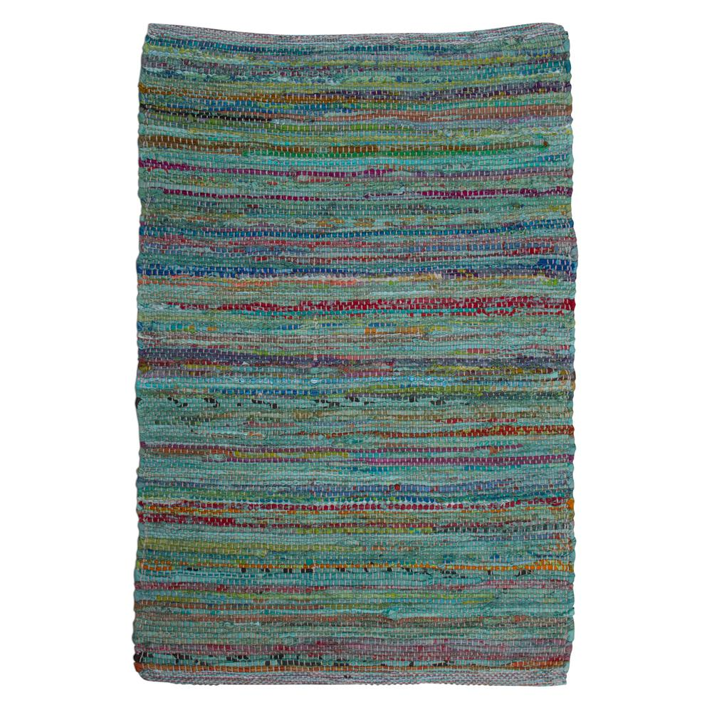 Tag Multicolored 2 Ft. X 3 Ft. Paanee Stripe Chindi Area