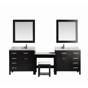 Design Element Two London 36 inch W x 22 inch D Vanity in Espresso with Marble... by Design Element