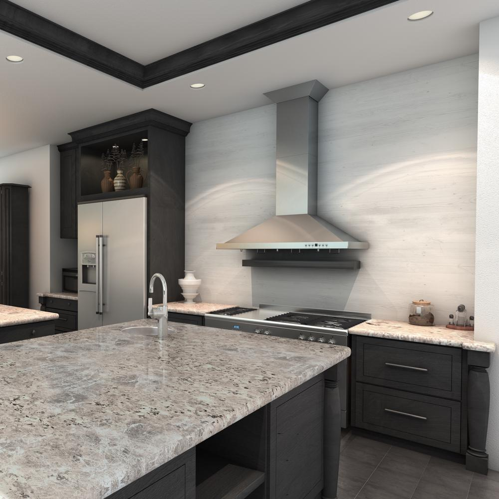 Zline Kitchen And Bath 30 In Wall Mount Range Hood Stainless Steel