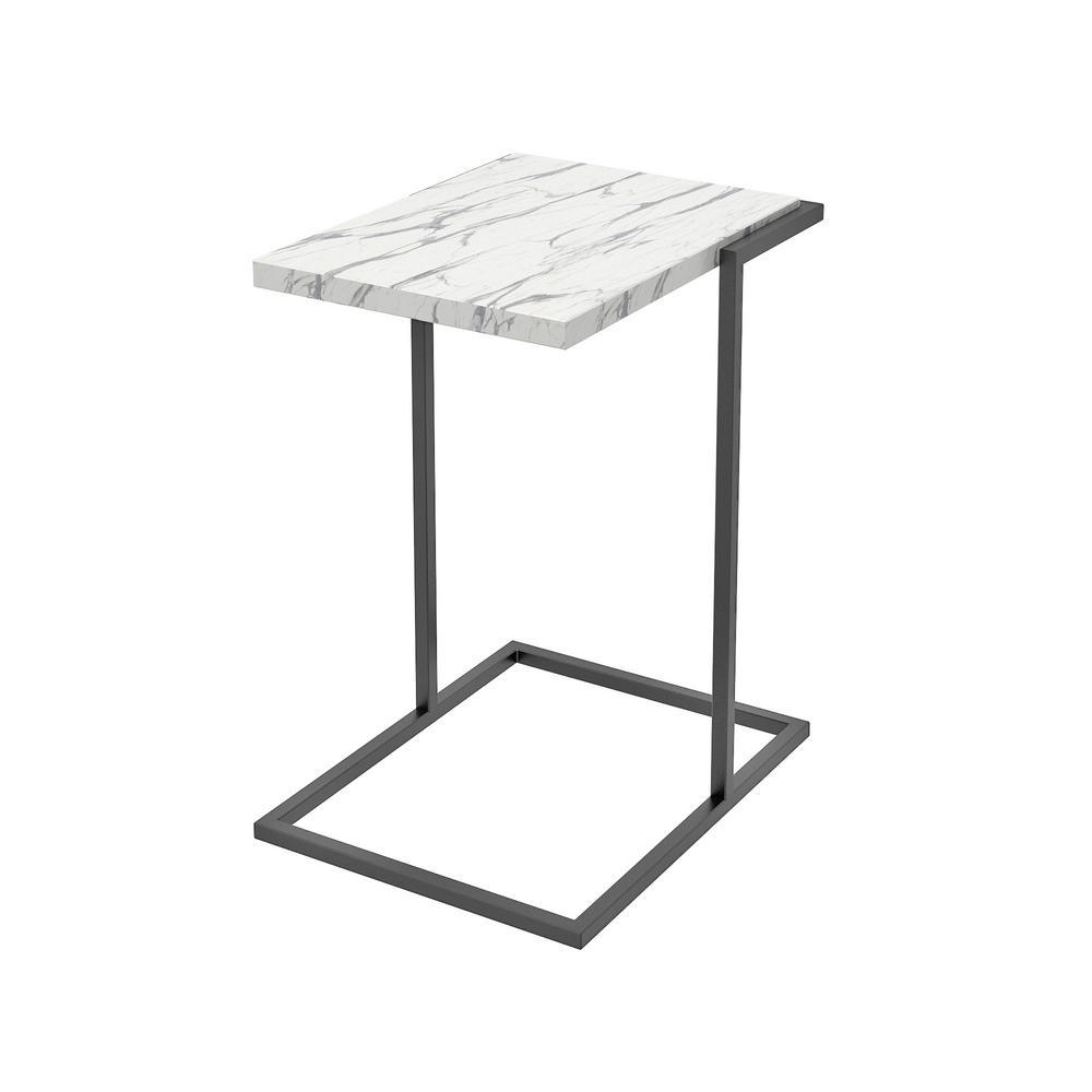 Como White C-Table / End Table