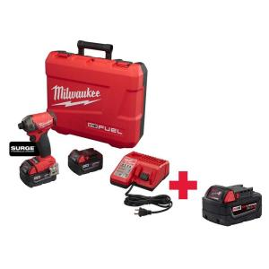 Milwaukee M18 FUEL Surge 18-Volt Lithium-Ion Brushless Cordless 1/4 inch Hex Hydraulic Impact Driver Kit with... by