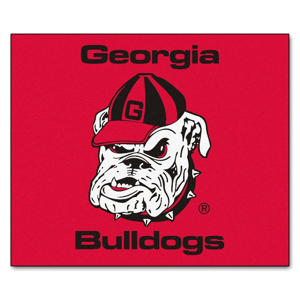 FANMATS NCAA University of Georgia Red 5 ft. x 6 ft. Indoor/Outdoor Tailgater Area Rug