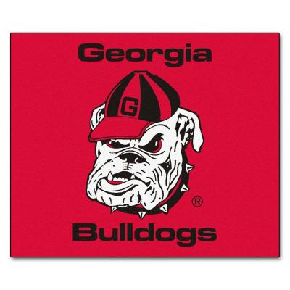 NCAA University of Georgia Red 5 ft. x 6 ft. Indoor/Outdoor Tailgater Area Rug