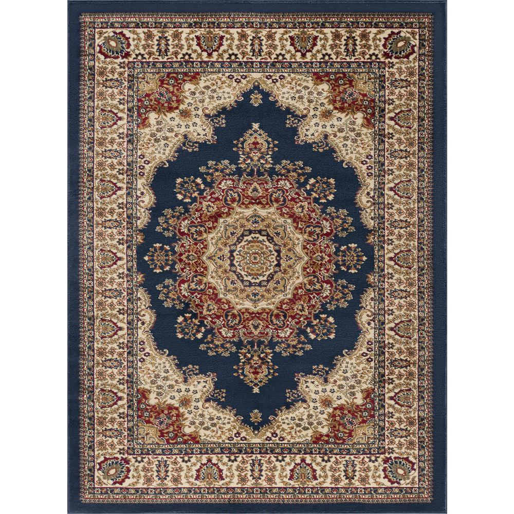 tayse rugs sensation navy 11 ft x 15 ft transitional area rug sns4707 11x15 the home depot. Black Bedroom Furniture Sets. Home Design Ideas