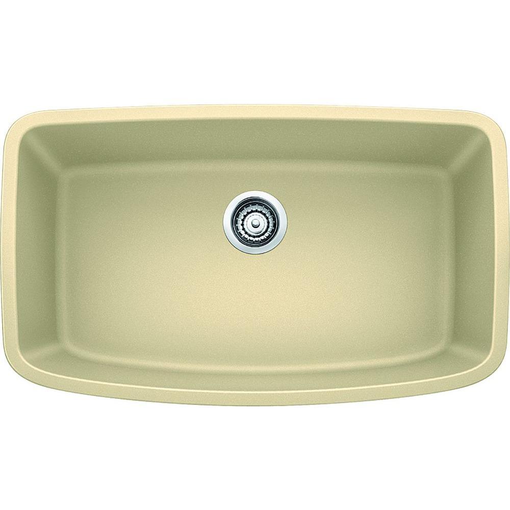 Valea Undermount Granite Composite 32 in. Super Single Bowl Kitchen Sink in Biscotti