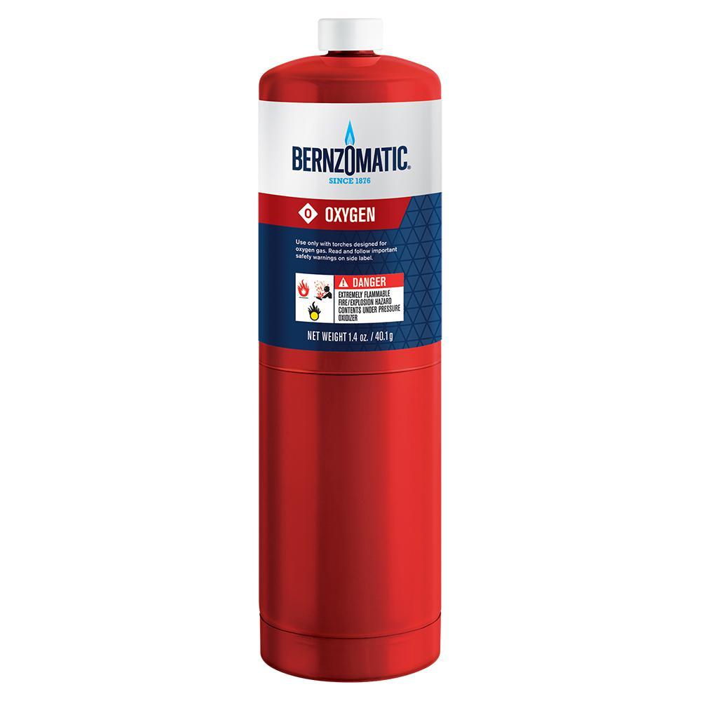 Bernzomatic 1 4 oz  Oxygen Gas Cylinder