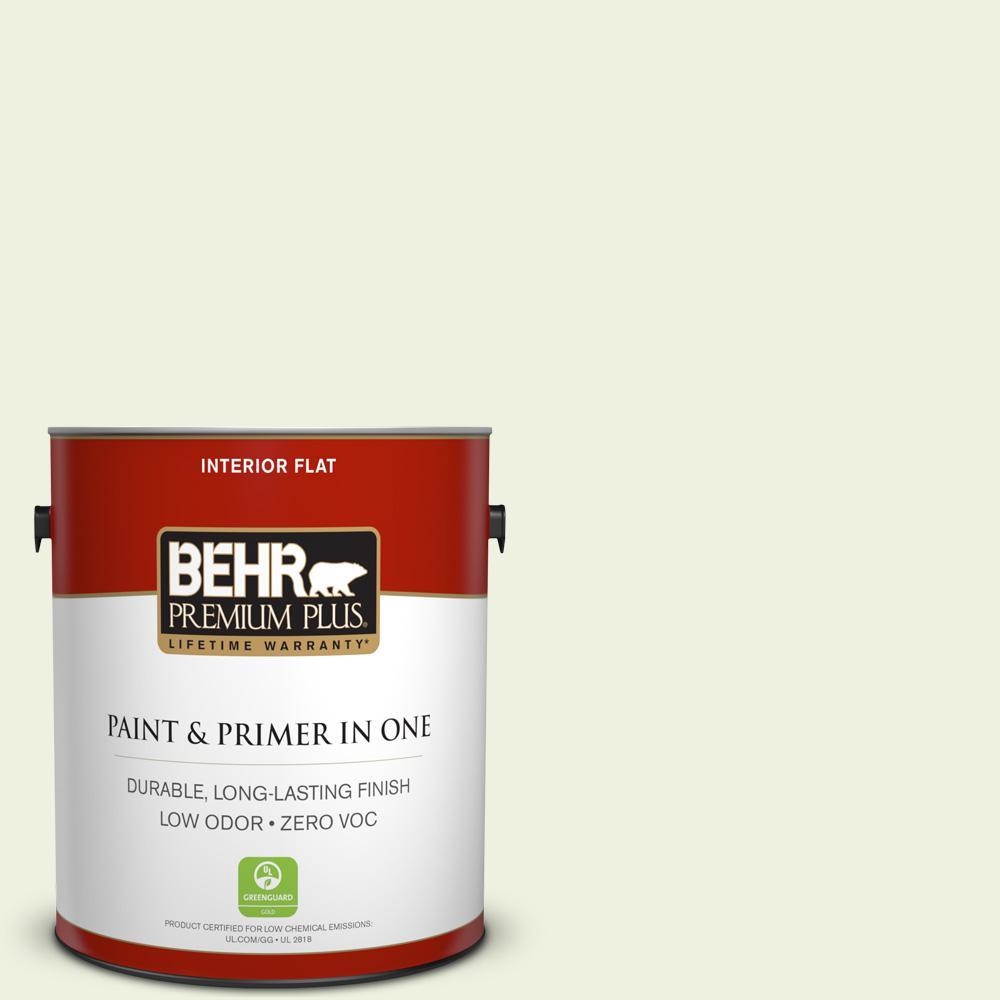 BEHR Premium Plus 1-gal. #420C-1 Highlight Zero VOC Flat Interior Paint