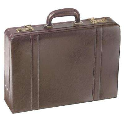 Expandable Burgundy Attache Case for 17.5 in. Laptop