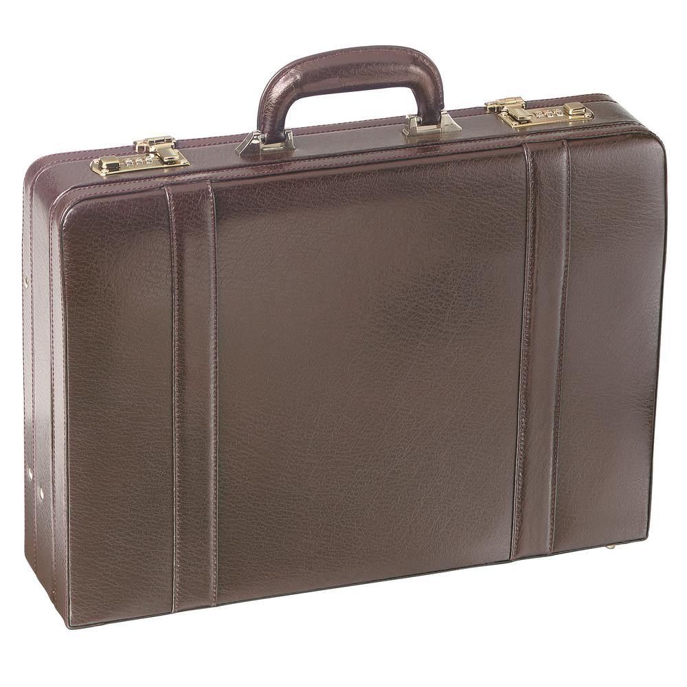 MANCINI Expandable Burgundy Attache Case for 17.5 in. Laptop-ML-86460-BRGNDY  - The Home Depot 233ffc2cfb4cd