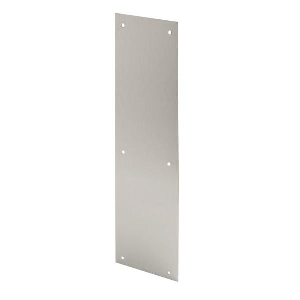 4 in. x 16 in., Stainless Steel, Door Push Plate