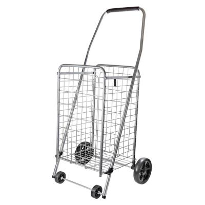 Silver Metal Cleaning Cart with Pop n. Shop Feature