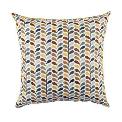 Leaf Print Multicolored Throw Pillow Cover