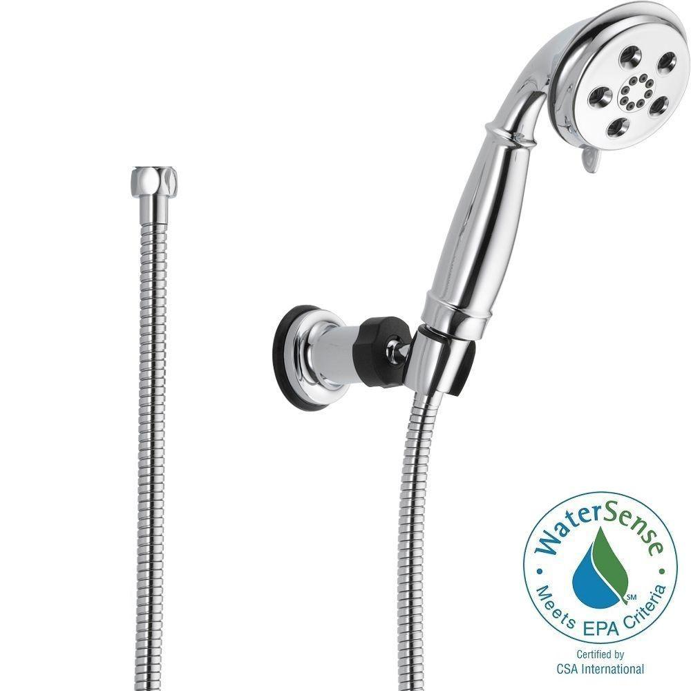 3-Spray 2.0 GPM Wall-Mount Hand Shower in Chrome Featuring H2Okinetic
