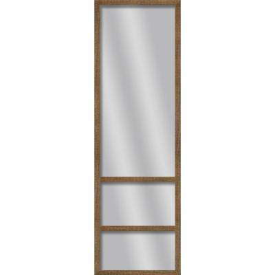Large Rectangle Natural Brown Art Deco Mirror (49.75 in. H x 13.73 in. W)