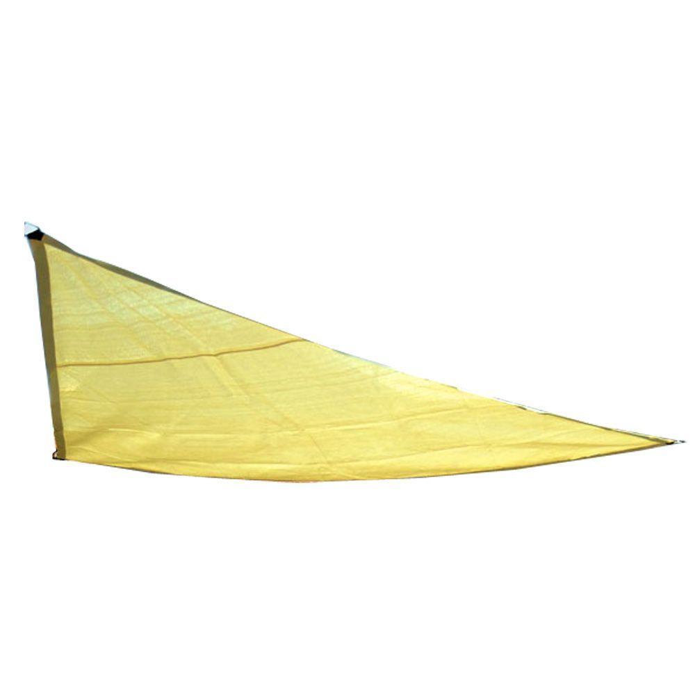 10 ft. W x 10 ft. D Yellow Triangle Sun Shade Sail
