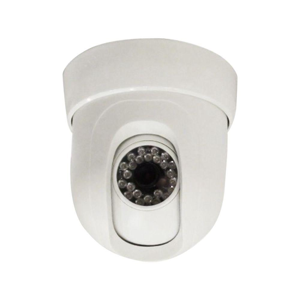 SeqCam Wired Pan and Tilt Dome Indoor/Outdoor Security Camera ...