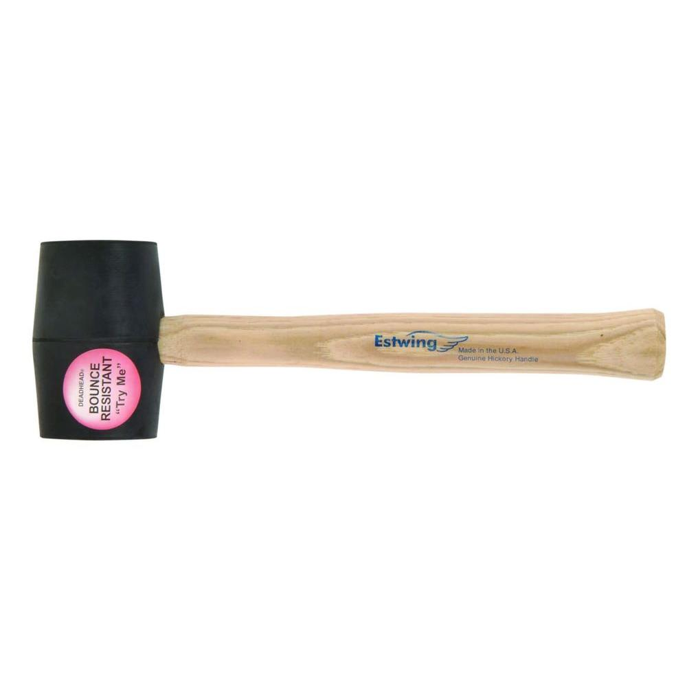 Estwing 18 oz. Deadhead Rubber Mallet Hickory Handle