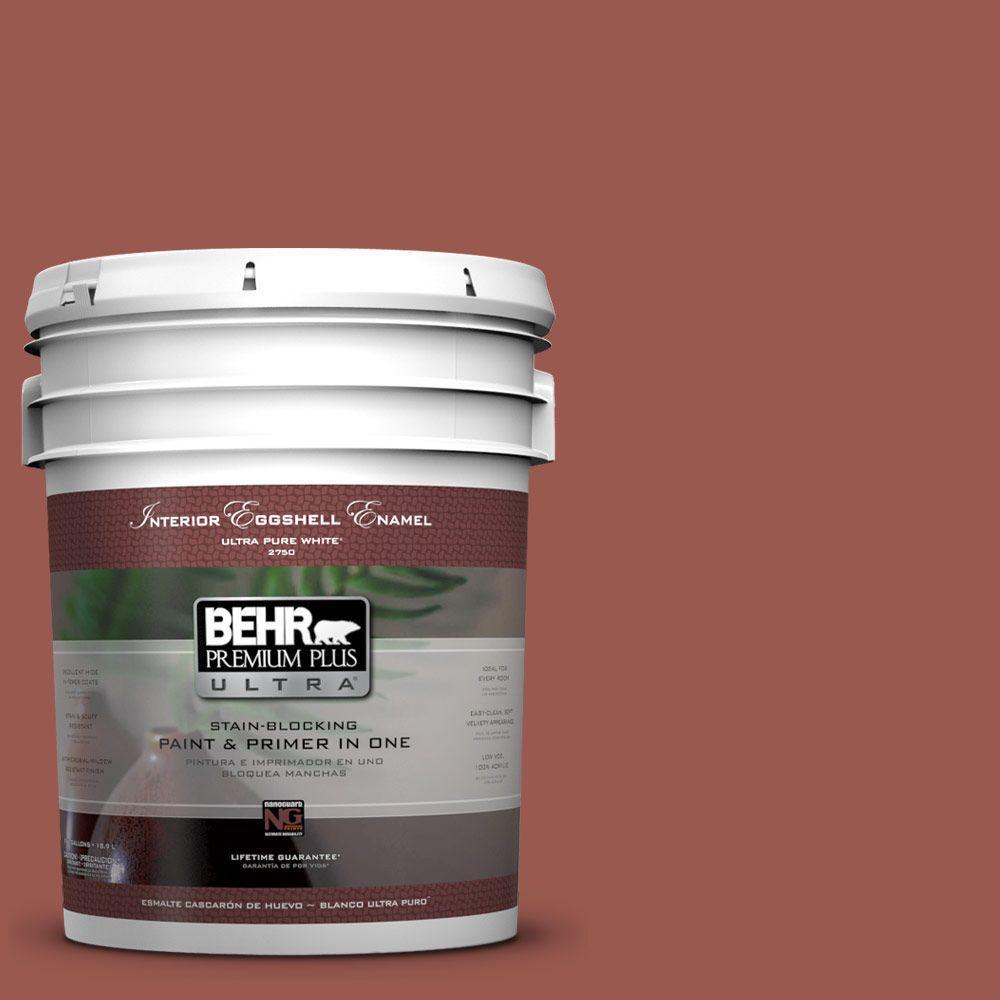 BEHR Premium Plus Ultra 5-gal. #ICC-106 Spicy Cayenne Eggshell Enamel Interior Paint