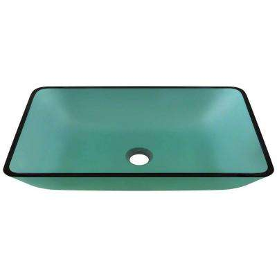 Glass Vessel Sink in Emerald
