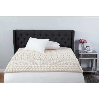 2 in. Twin Foam 5-Zone Mattress Topper