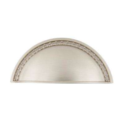 3 in. (76 mm) Satin Nickel Drawer Cup Pull Meadows