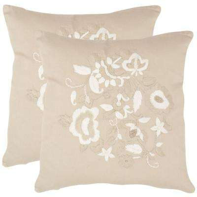April Embroidered Pillow (2-Pack)