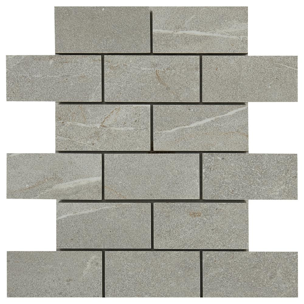 Marazzi noble stone smoke 12 in x 12 in x 8 mm porcelain mosaic