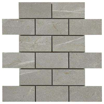 Noble Stone Smoke 12 in. x 12 in. x 8 mm Porcelain Mosaic Tile