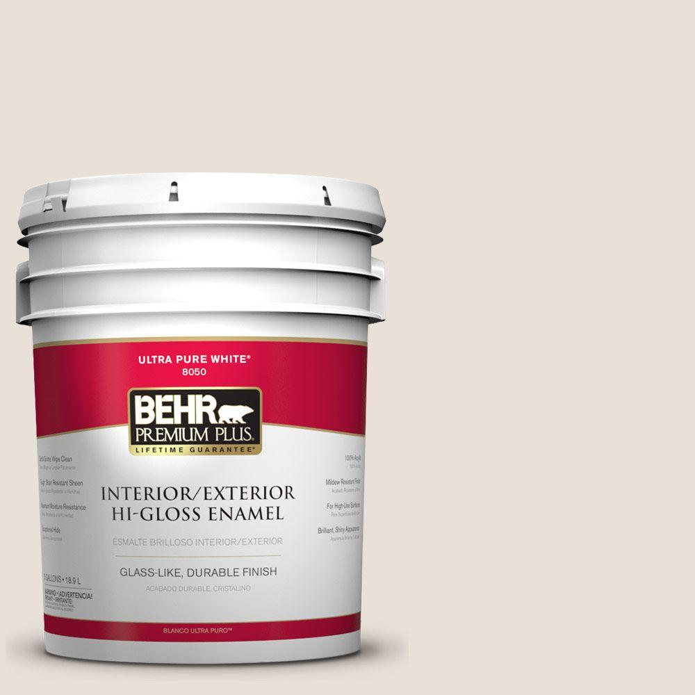 5-gal. #730C-1 White Clay Hi-Gloss Enamel Interior/Exterior Paint