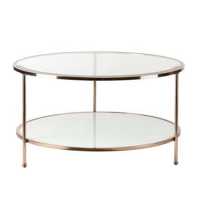 Cherlize Metallic Gold Cocktail Table