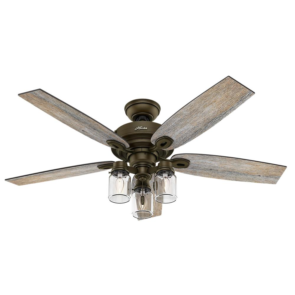 Hunter Crown Canyon 52 in. Indoor Regal Bronze Ceiling Fan-53331 ...