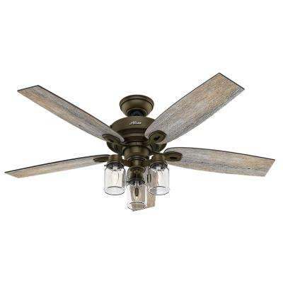 Hunter angle mount hardware ceiling fans lighting the home depot indoor regal bronze ceiling fan aloadofball Choice Image
