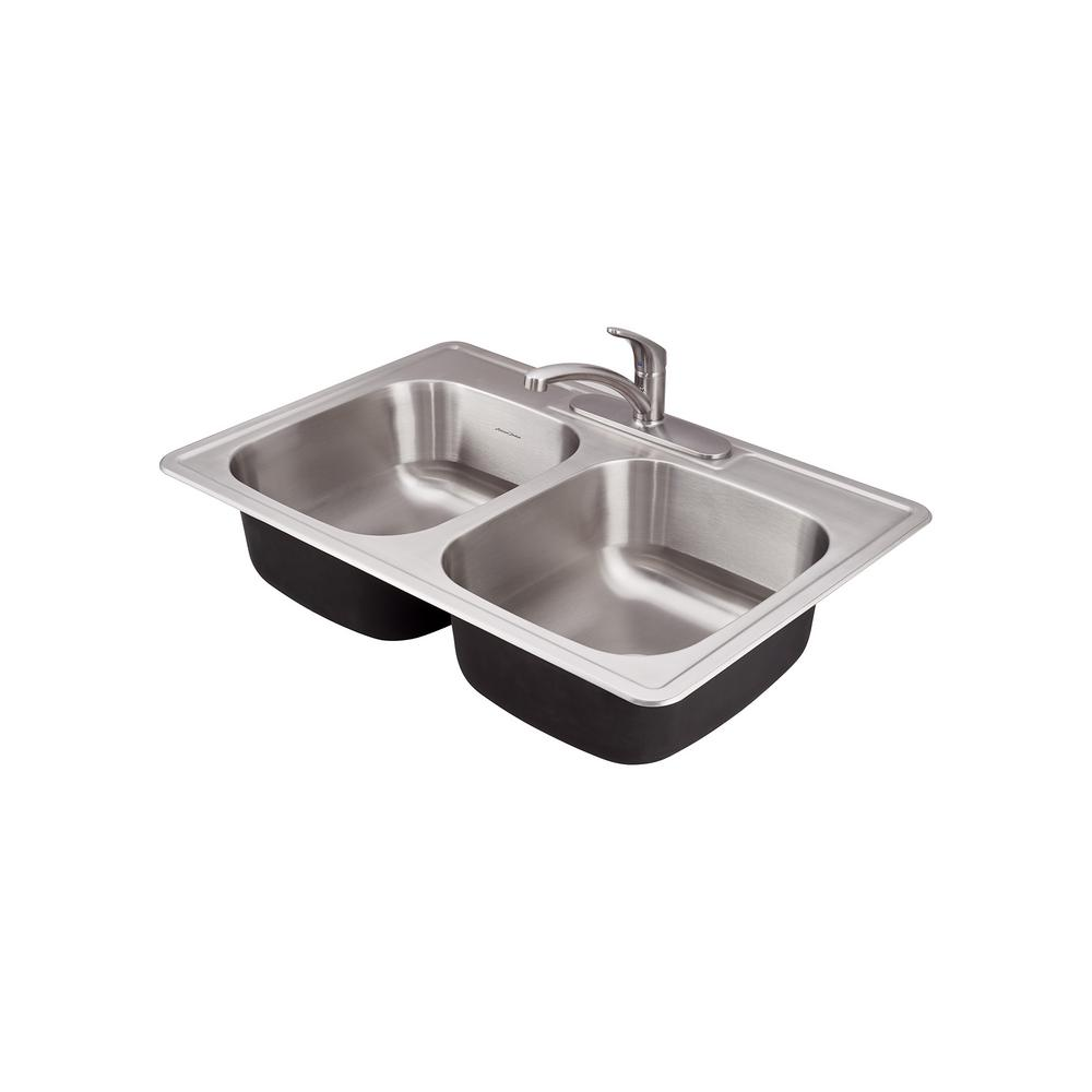 Colony Pro Drop-in Stainless Steel 33 in. Double Bowl Prep Kitchen