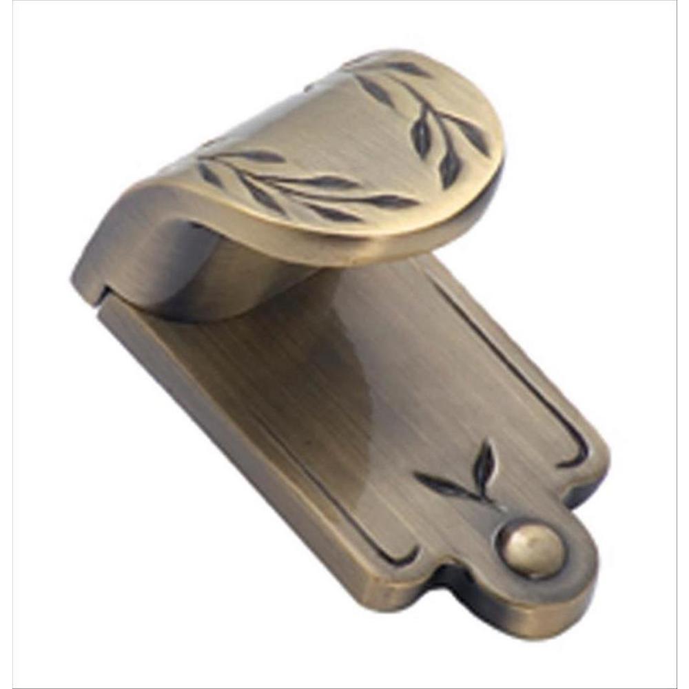 Inspirations 1 in. Elegant Brass Leaf Finger Center-to-Center Pull
