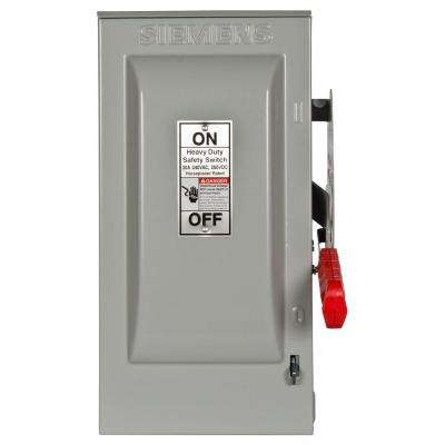 Heavy Duty 30 Amp 240-Volt 3-Pole Outdoor Fusible Safety Switch with Neutral